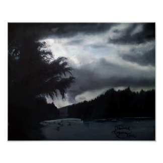 """""""storm on the lake"""" 16x20 canvas print"""