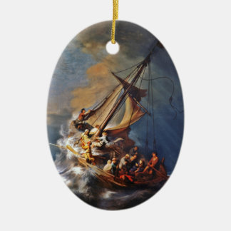 Storm on the Sea of Galilee Ceramic Ornament