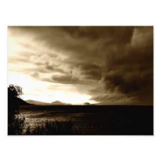 Storm over Lake Taupo Photographic Print