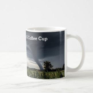 Storm tornado lifing hay bales coffee mug