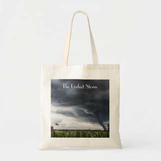 Storm tornado or twister lifing bales bad weather tote bag