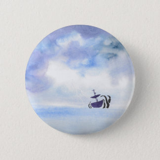 Storm-Tossed 2 Inch Round Button