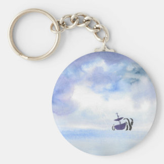 Storm-Tossed Basic Round Button Keychain