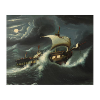 Storm Tossed Frigate by Thomas Chambers Acrylic Wall Art