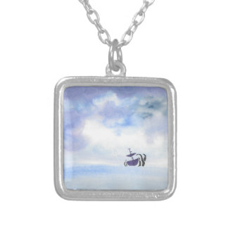 Storm-Tossed Silver Plated Necklace