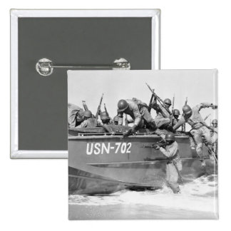Storming the Beach 1940s Pin