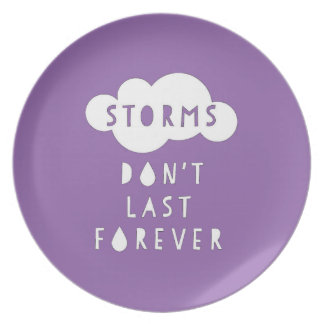 Storms Don't Last Forever Plate Dark