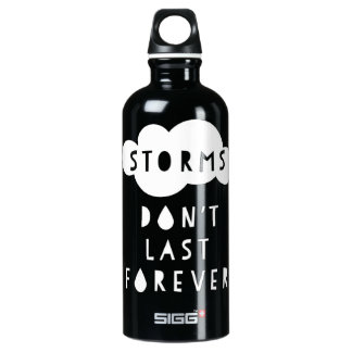 Storms Don't Last Forever Water Bottle Dark