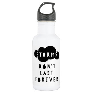 Storms Don't Last Forever Water Bottle Light