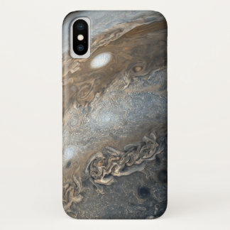 Storms on Jupiter from Juno Cam (2017) iPhone X Case