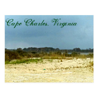 Stormy Beach at Cape Charles, Virginia Postcard