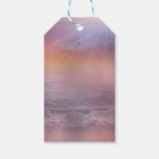 Stormy Beach Lavender Peach dove ocean tags Pack Of Gift Tags