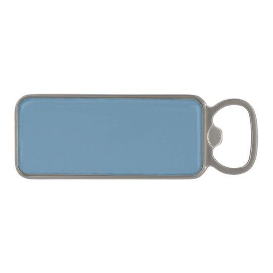 Stormy Blue Gift Colour Design Magnetic Bottle Opener