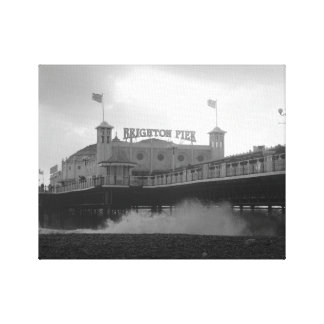 Stormy Brighton Pier Canvas Print