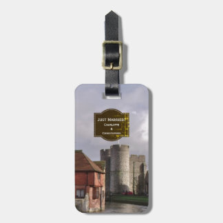 Stormy Castle And River Luggage Tag for Wedding