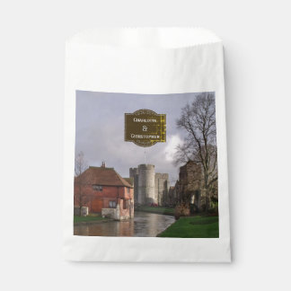 Stormy Castle And River Personalized Wedding Favour Bag