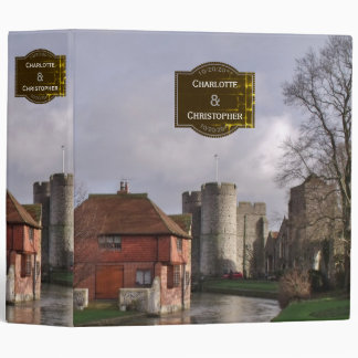 Stormy Castle And River Wedding Pictures Binder