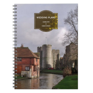 Stormy Castle And River Wedding Plan Notes Notebook
