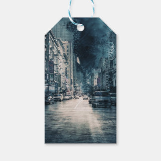 Stormy Cityscape Gift Tags