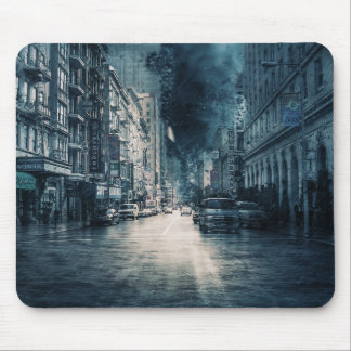 Stormy Cityscape Mouse Pad