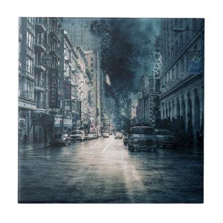 Stormy Cityscape Tile