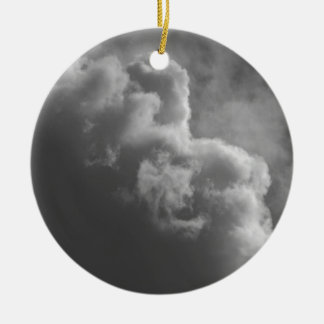 Stormy Clouds Ceramic Ornament