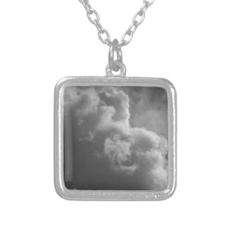 Stormy Clouds Silver Plated Necklace