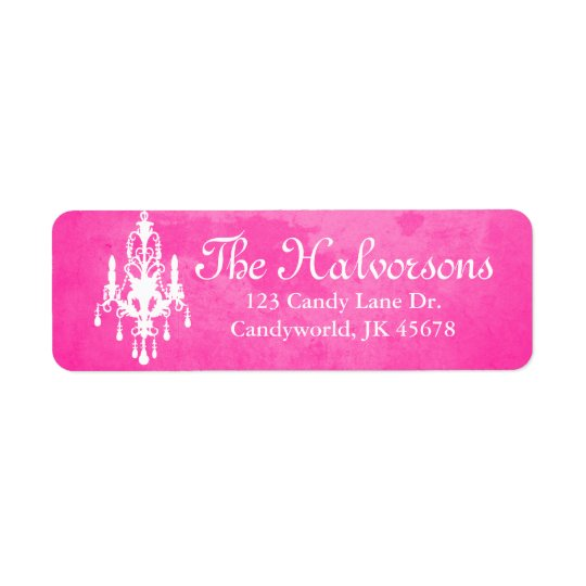 Stormy Day Pink Chandelier Address Labels
