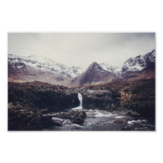 Stormy Fairy Pools | Poster