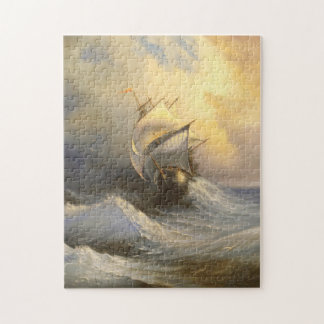 Stormy Frigate Painting Puzzle