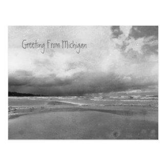Stormy Greetings From Lake Michigan Postcard
