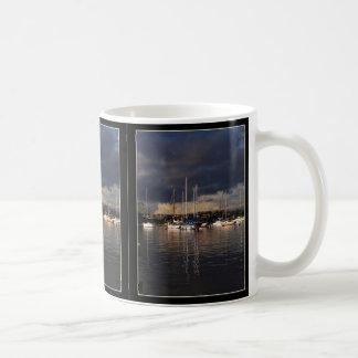 Stormy Harbor Sailboats Mug