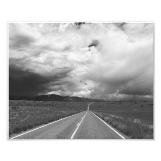 Stormy Highway Photographic Print