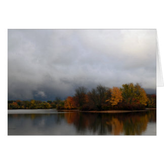 Stormy Lake Scene Note Card