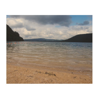 Stormy Lake View Wood Canvas
