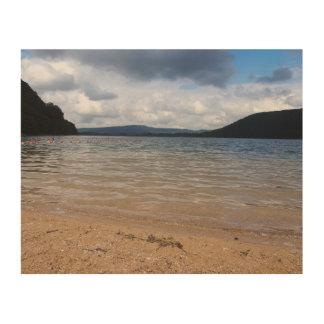 Stormy Lake View Wood Print