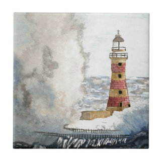 Stormy Lighthouse Tile