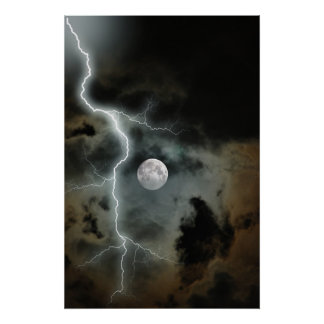 Stormy Moon Poster