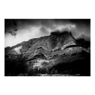 Stormy Mountain Poster