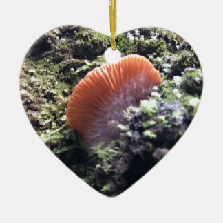 Stormy Mycelia Burst Mushroom Ceramic Ornament