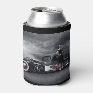 Stormy Night Rat Rod Pickup Truck Pin Up Girls Can Cooler