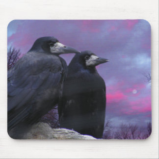 Stormy Night Ravens Mouse Pad