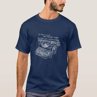 Stormy Night Typewriter T-Shirt