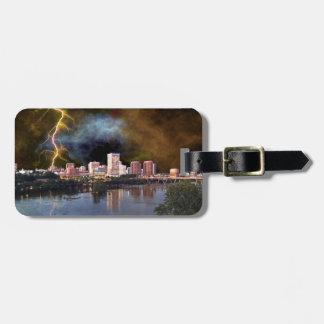 Stormy Richmond Skyline Bag Tag