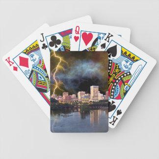 Stormy Richmond Skyline Poker Deck