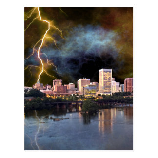 Stormy Richmond Skyline Postcard