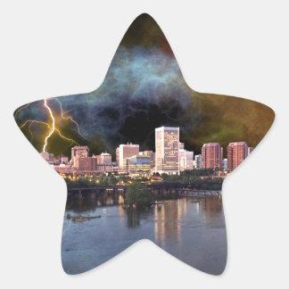Stormy Richmond Skyline Star Sticker