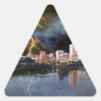 Stormy Richmond Skyline Triangle Sticker