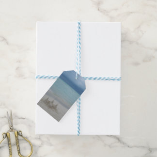 Stormy Sandcastle Beach Landscape Gift Tags