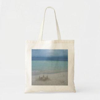 Stormy Sandcastle Beach Landscape Tote Bag